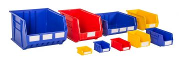 Rhino Tuff Plastic Bins Multi Coloured